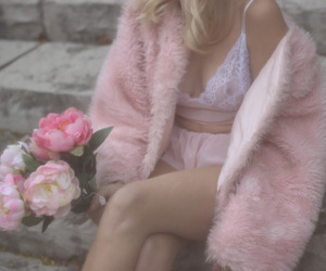 lingerie, pale, and pastel image