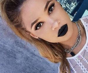 beauty, black, and lipstick image