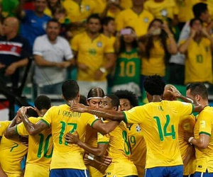 brazil, soccer, and jogadores image