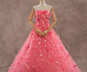 color, dress, and pink image