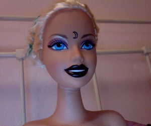 barbie, grunge, and moon image