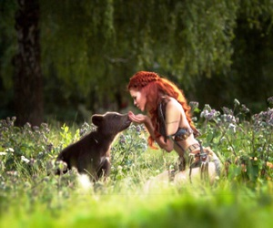 bear, kissing, and graciela rae image