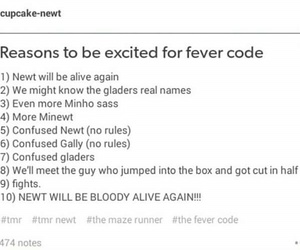 the maze runner and the fever code image