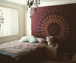 bedroom and hippie image