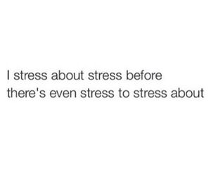 quote, stress, and funny image