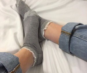 socks, aesthetic, and grunge image