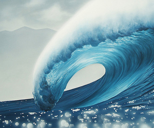 ocean, wave, and waves image