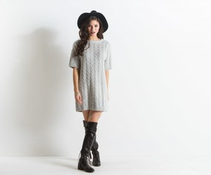 cashmere, dress, and fashion image