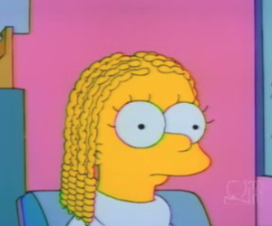 hair, lisa simpson, and the simpsons image