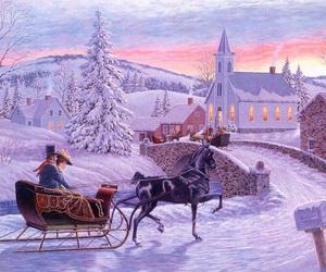 christmas, once upon a time, and winter image