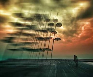 clouds, sky, and thessaloniki image