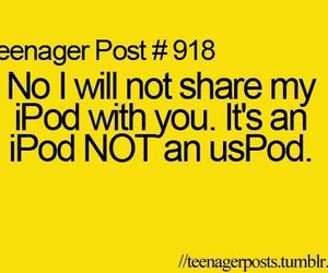 ipod, funny, and teenager post image