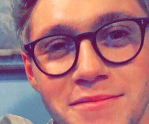 glasses, niall, and Hot image