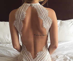 backless, lovely, and white image