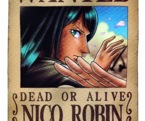 one piece, wanted, and nico robin image