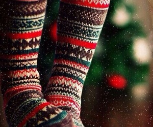 christmas, socks, and winter image