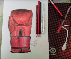 art, boxing, and draw image