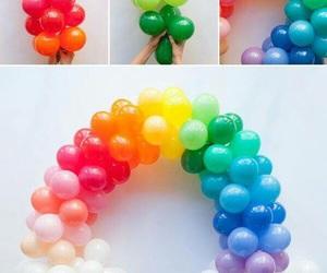 diy, rainbow, and balloons image