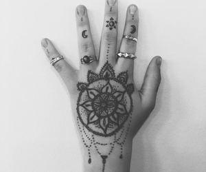 mandala, rings, and Tattoos image