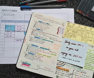 inspiration, notebook, and organized image