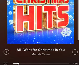 christmas, Mariah Carey, and spotify image