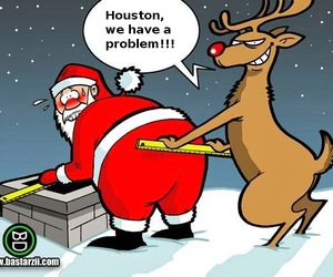 funny, santa, and christmas image