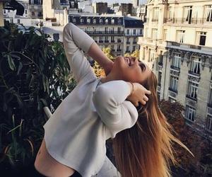 girl, hair, and city image