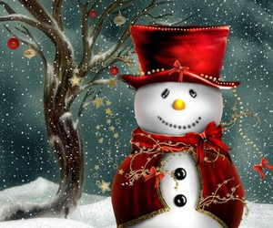 christmas, snowman, and snow image