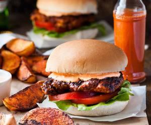 burger, Chicken, and copycat image