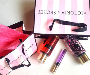 pink, bag, and perfume image