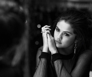 sad, black, and selena gomez image