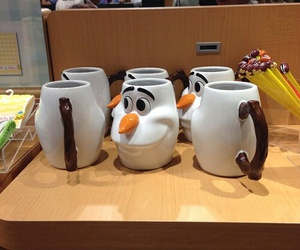 cup, disney, and frozen image