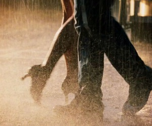 dance, rain, and couple image
