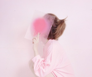 pink and girl image