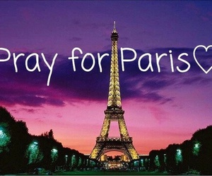 pray for paris, france, and hope image