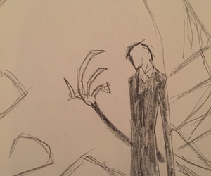 drawing and slender man image