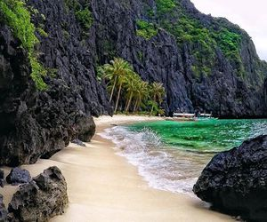 beach, oasis, and Philippines image