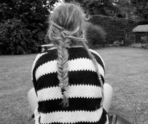 blackandwhite, plaits, and dreadlocks image
