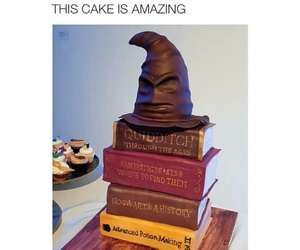 cake, funny, and harry potter image