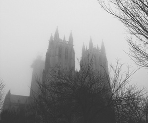 castle, Darkness, and fog image
