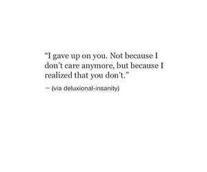 quotes, giveup, and love image