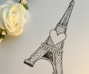 art, eiffel tower, and france image