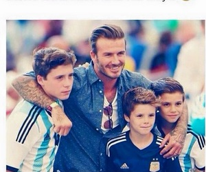 beckham, boys, and family image