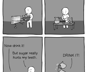 comic, funny, and drink image