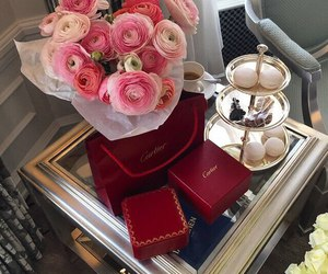 cartier, flowers, and luxury image