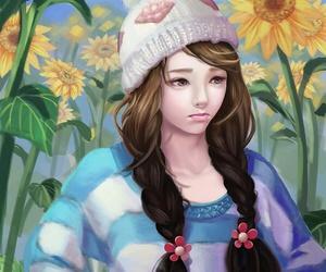 art, art girl, and beautiful girl image