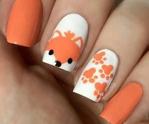 nails, cute, and fox image