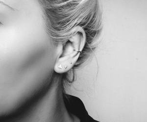 contour, earrings, and ear image