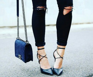 bag, girl, and jeans image