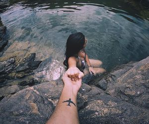 travel, water, and love image